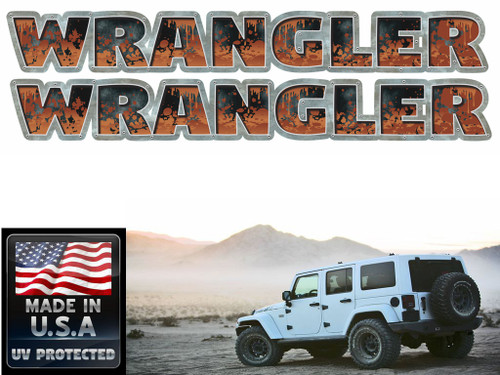 Jeep Wrangler Mud Splatter 2 piece set
