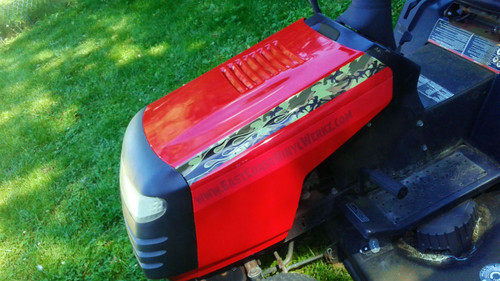Camo - Lawn Mower decals - Hood Stripes