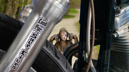 Loud Pipes Save Lives  - Motorcycle Fork Decals  - 2pc set