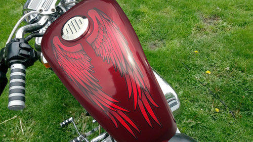 Wings (Red) Tank Decals - 2pc set