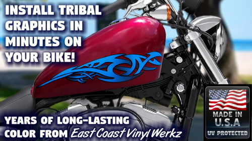 No. 2 Tribal - Tank decals - 2pc set  ( blueberry)