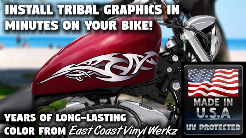 No. 2 Tribal - Tank decals - 2pc set  (Silver)