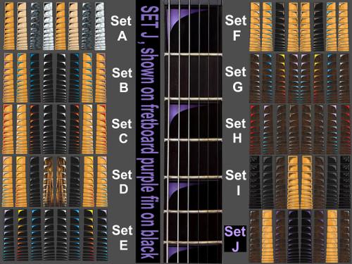 set J purple fin on black block