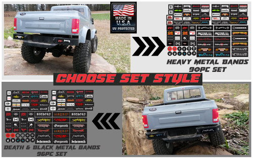 Scale RC - Bumper Stickers - Choose from 2 styles - Heavy Metal or Death/Black Metal bands