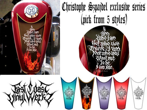 Choose from 5 styles 1 piece tank top fire decal shown on tank with close up
