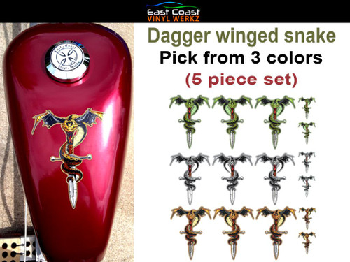 Dagger winged snake 5 piece set pick from 3 colors