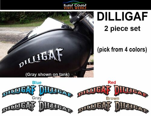 DILLIGAF  2 piece set  pick from 4 colors
