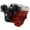 Black Diamond Chevy LS Engine Mid Mount Serpentine Kit - AC & Alternator