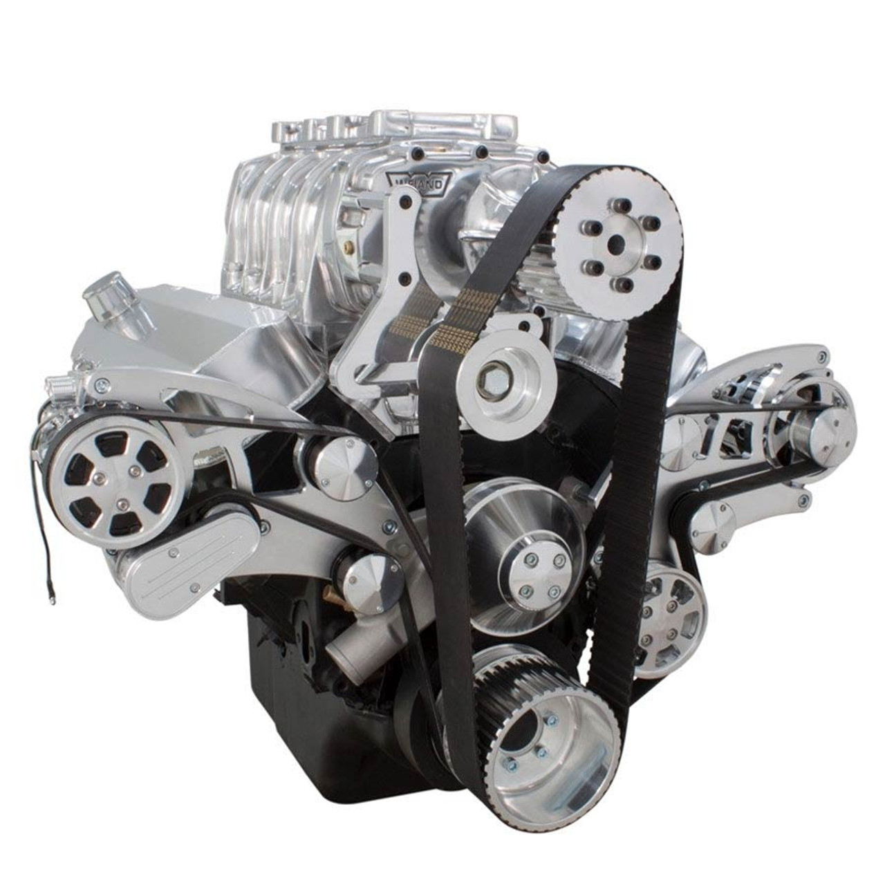 Serpentine System for Big Block Chevy Supercharger - AC, Power Steering,  Alternator & Root Style Blower - All Inclusive