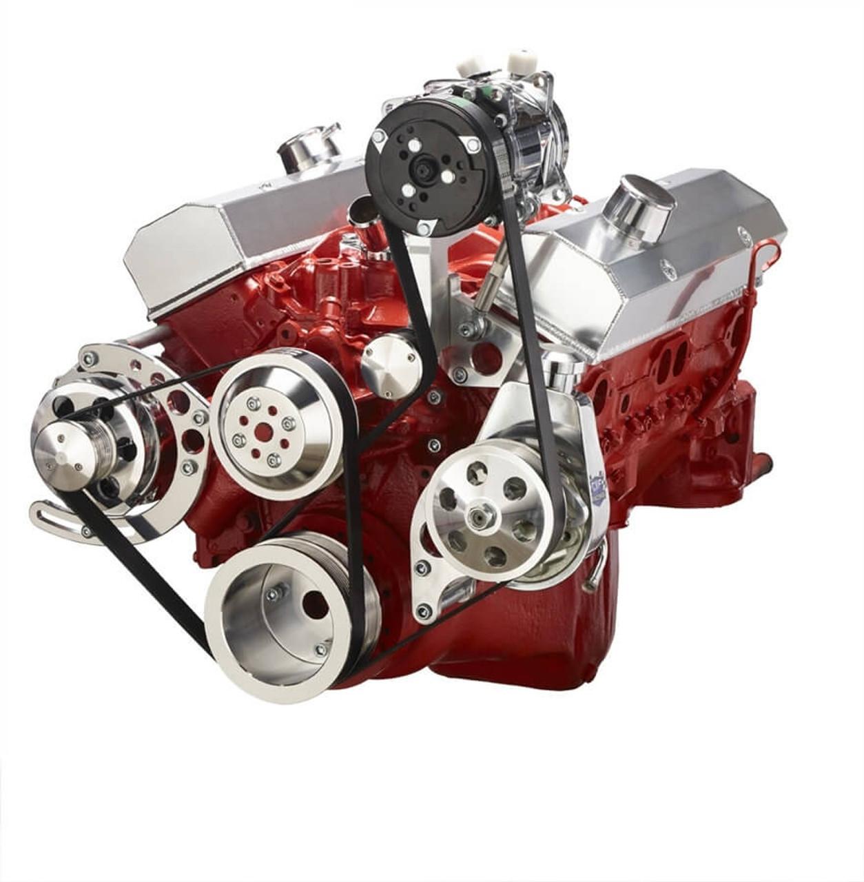 Chevy Small Block Serpentine Conversion - AC, Alternator & Power Steering,  Long Water Pump