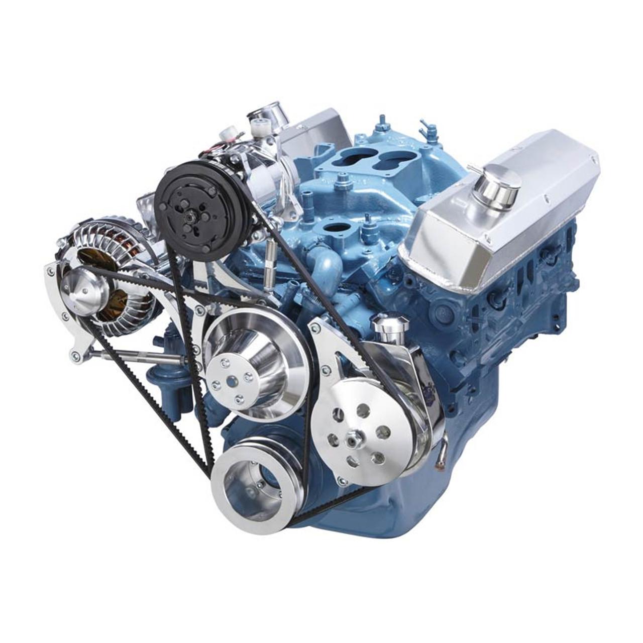 chrysler small block power steering, a c & alternator system (318, 340 & 360)  318 engine fan belt diagram #8