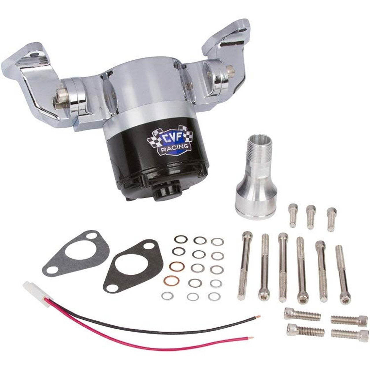 Chevy Small Block Electric Water Pump - 35 GPM, Chrome