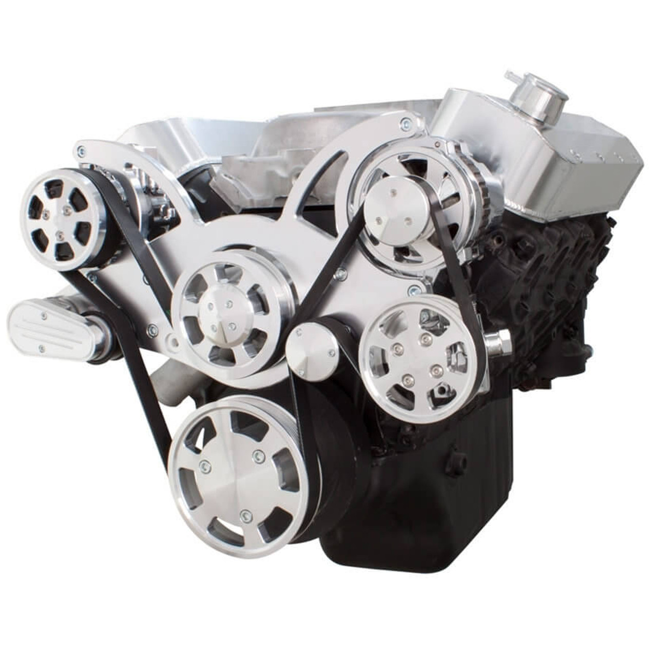 Serpentine System for Big Block Chevy - AC, Power Steering & Alternator -  All Inclusive