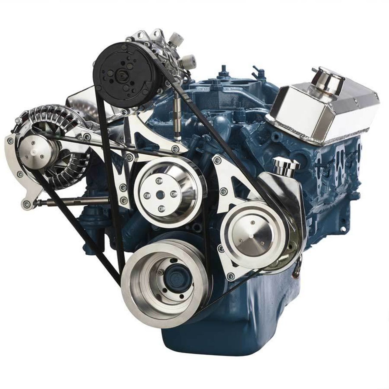 small block chrysler serpentine conversion, air conditioning and power steering  318 engine fan belt diagram #12
