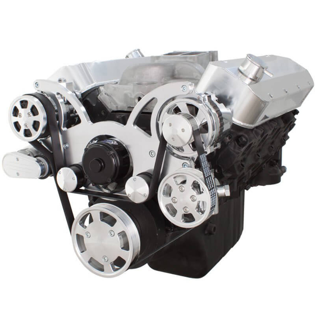 Serpentine System for Big Block Chevy - AC, Power Steering & Alternator  with Electric Water Pump - All Inclusive
