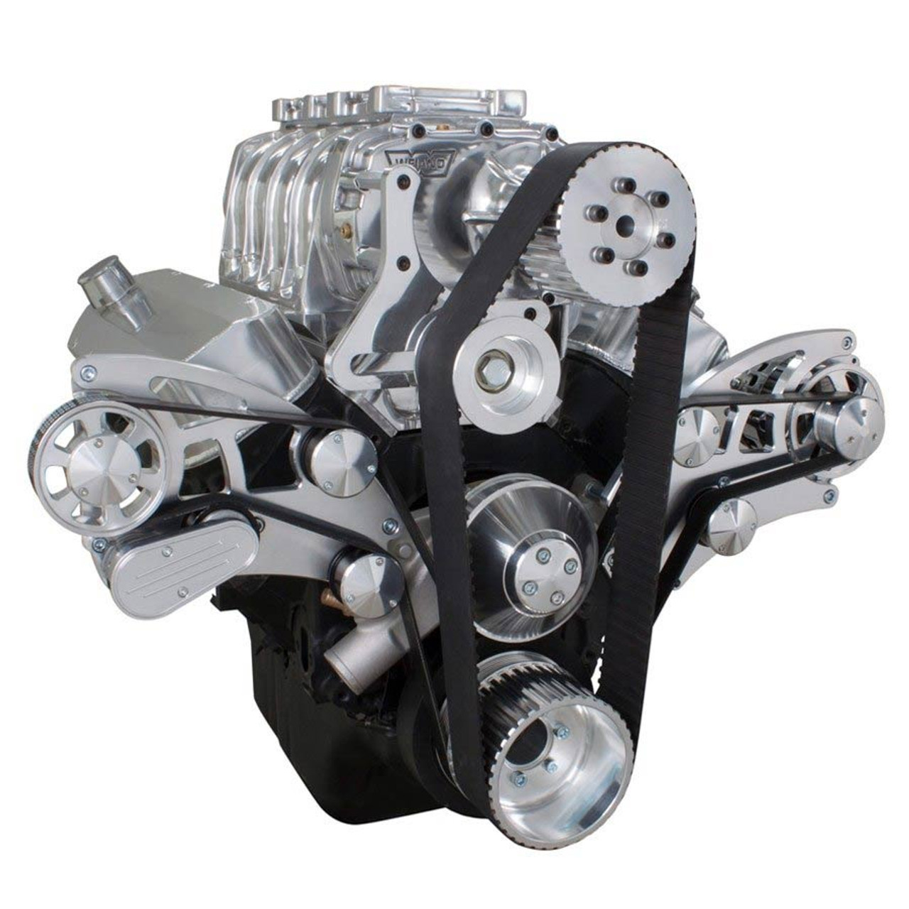 Serpentine System for 396, 427 & 454 Supercharger - Alternator Only with  Electric Water Pump - All Inclusive