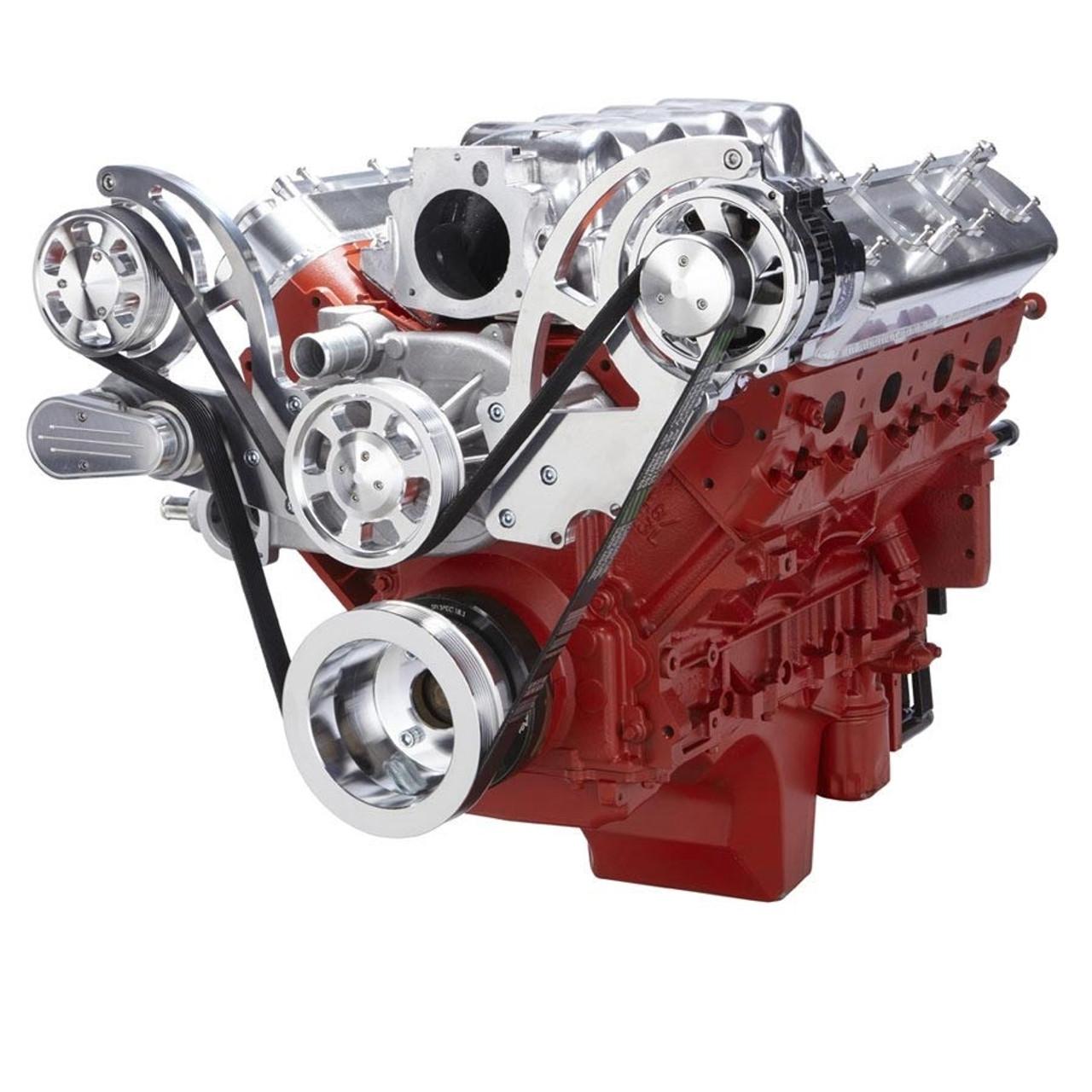 Chevy LS Engine High Mount Serpentine Kit - Alternator Only