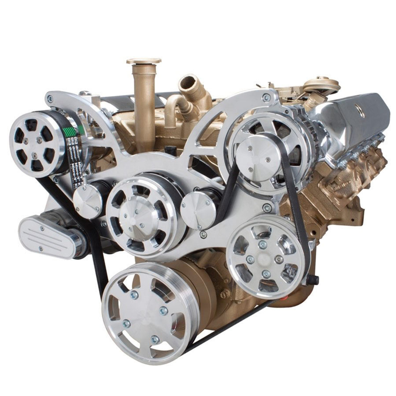 Serpentine System for Oldsmobile 350-455 - AC, Power Steering & Alternator  - All Inclusive