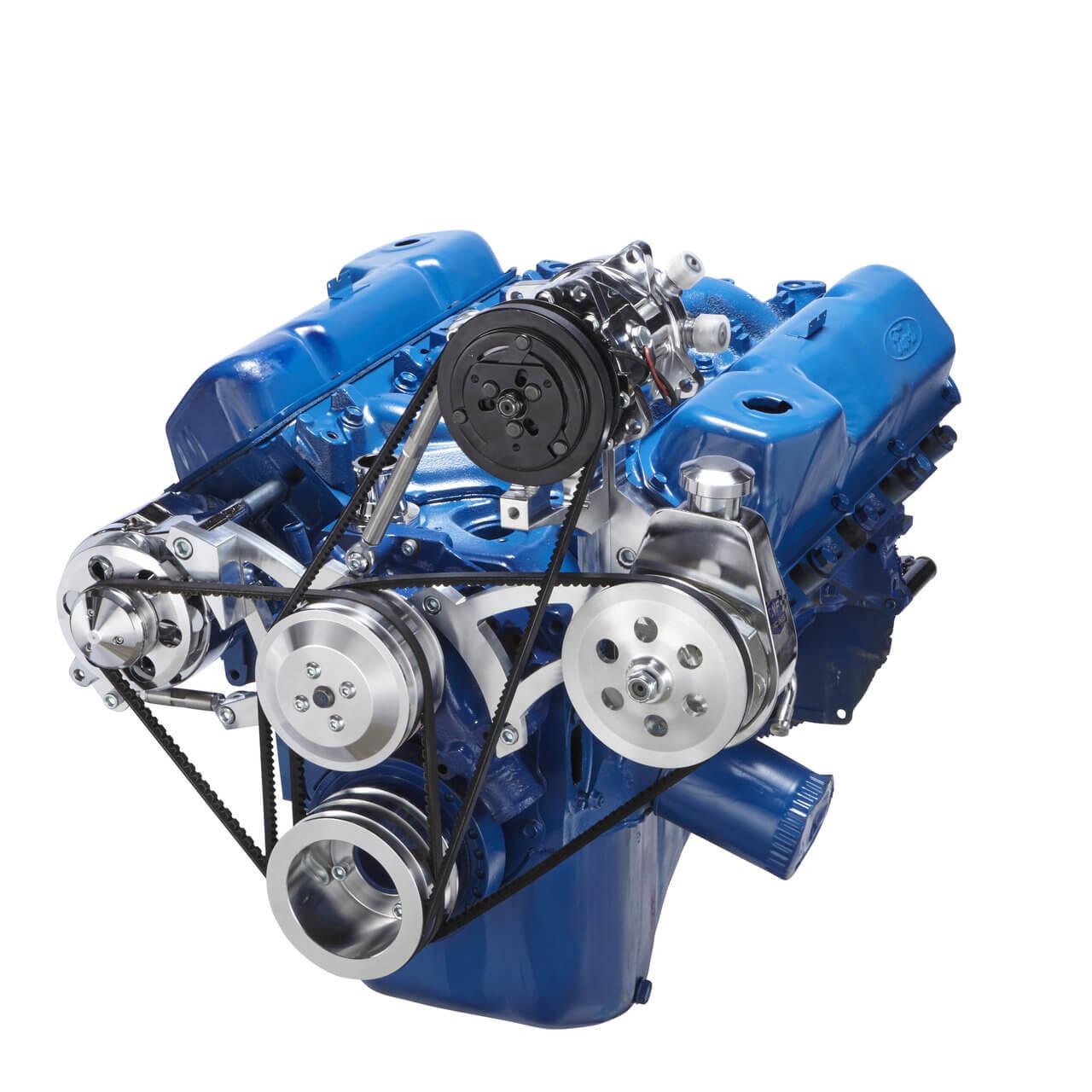Ford 351c 351m 400 Cleveland A C V Belt Pulley System