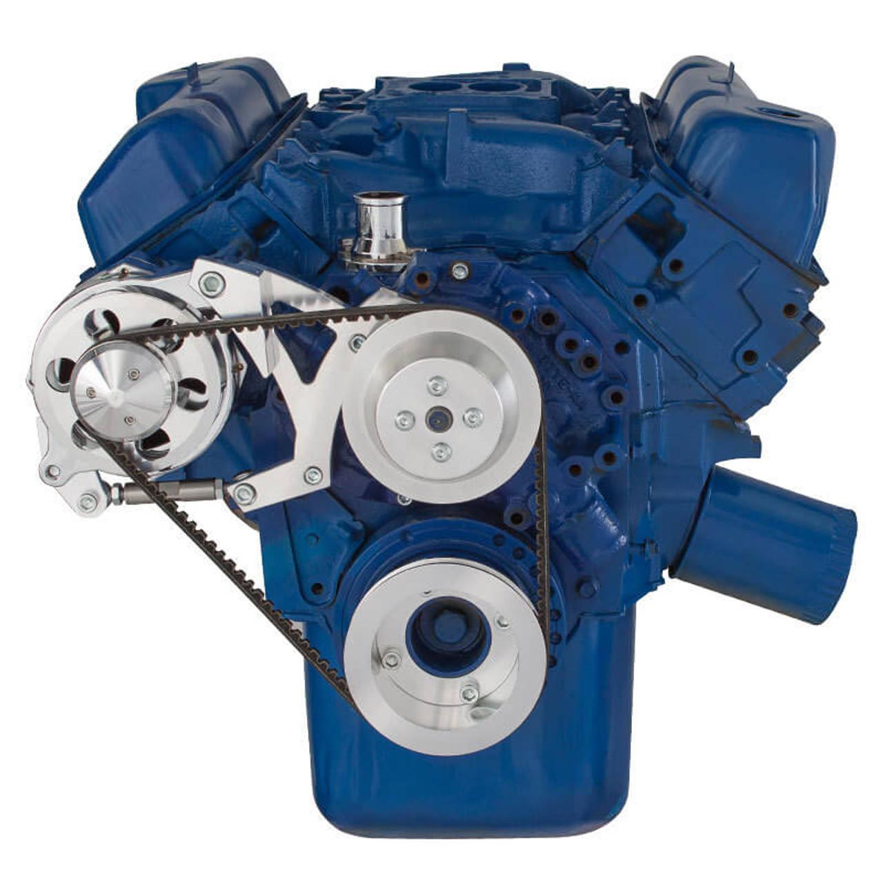 ford 351c, 351m \u0026 400 v belt pulley system (351c) alternator only Ford F-150 Distributor Diagram ford 351c, 351m \u0026 400 v belt system alternator