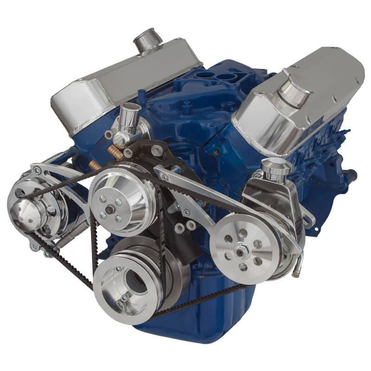 Ford 289-302-351W V-Belt System - Alternator & Power Steering