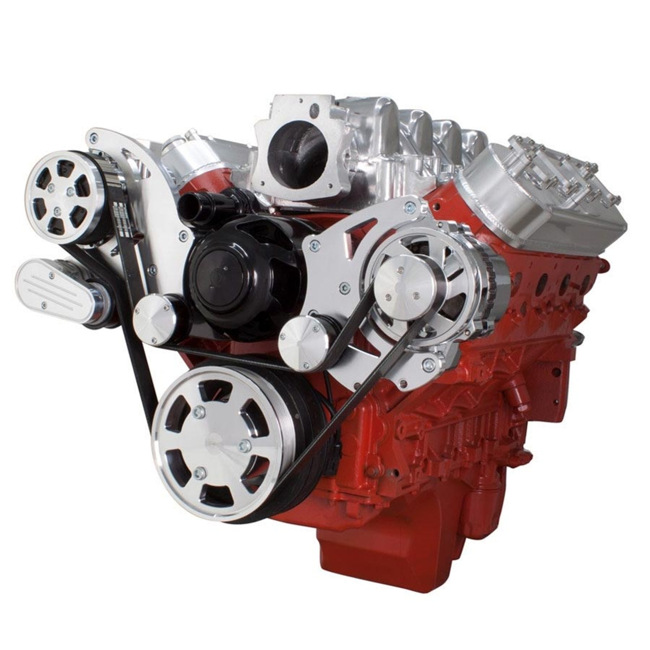 Chevy LS Engine High Mount Serpentine Kit - Alternator Only with Electric  Water Pump