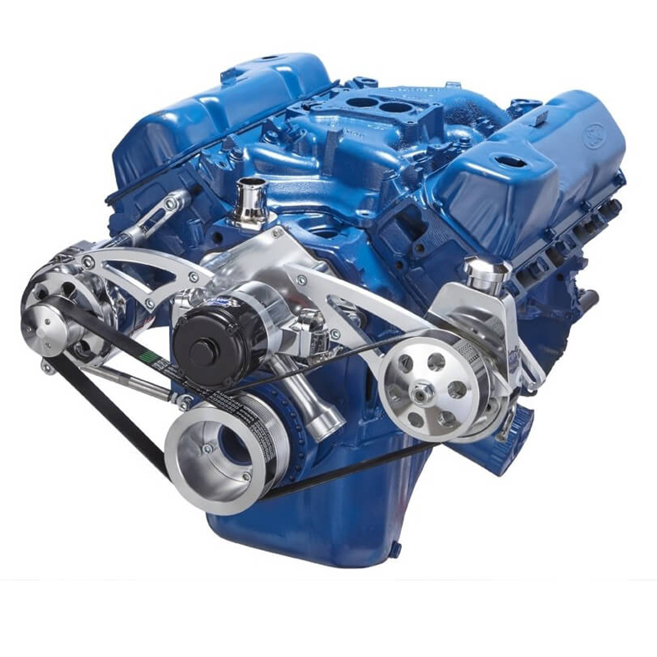 Ford 351c Engine Serpentine Kit Ewp With Power Steering