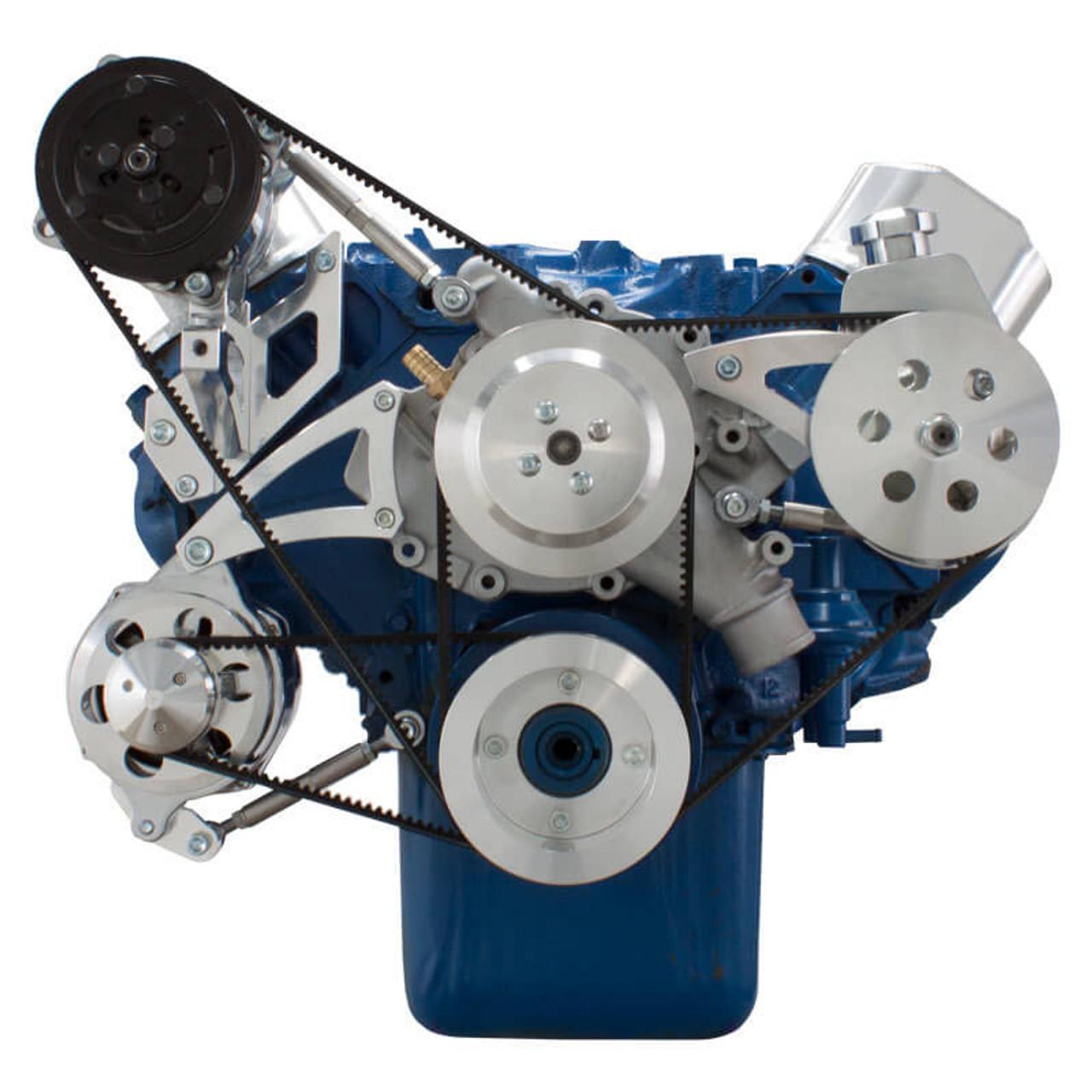 429-460 V-Belt Big Block Ford Pulley Kit