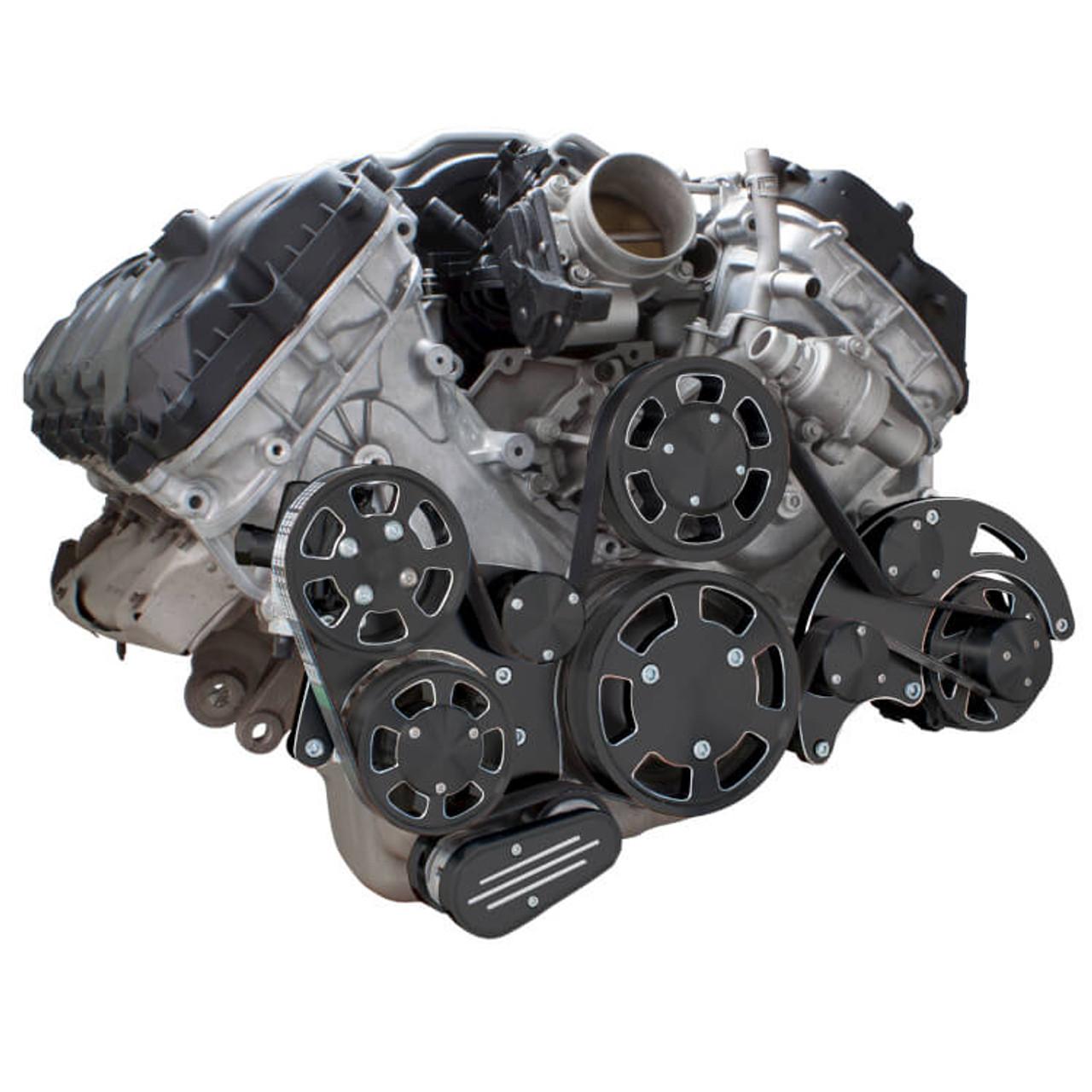 black diamond serpentine system for ford coyote 5 0 alternator \u0026 power steering all inclusive 1986 Ford Alternator Wiring