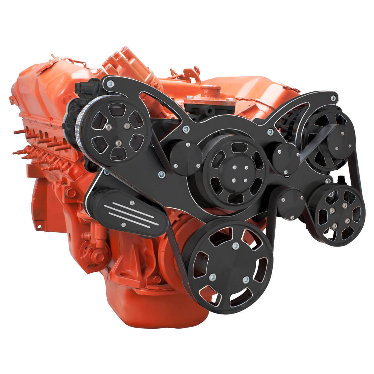 Black Diamond Serpentine System for Big Block Mopar - AC, Power Steering &  Alternator - All Inclusive