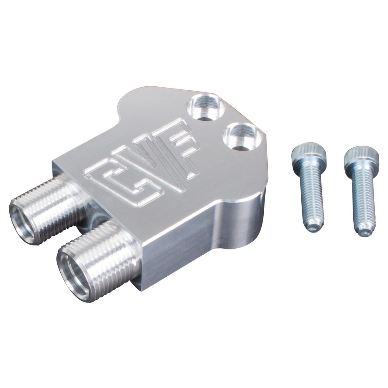Air Compressor Manifold AC Line Fitting 90-Degree Adapter Block