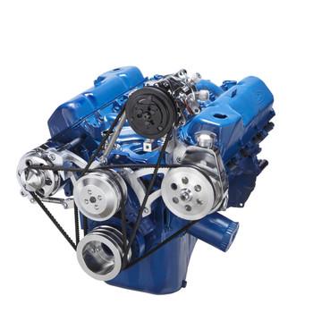 ford 351c, 351m & 400 v-belt system - ac, alternator & power