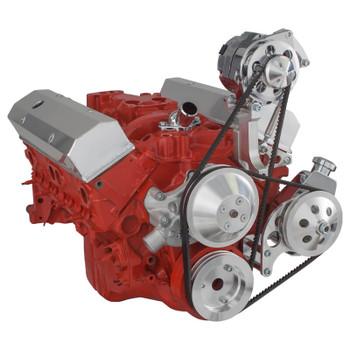 Chevy V-Belt Pulley & Bracket System: 302-305-350-400 SBC