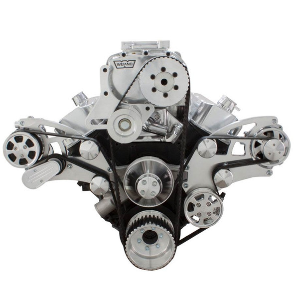 Serpentine System for Big Block Chevy Supercharger - AC, Power Steering & Alternator with Root Style Blower