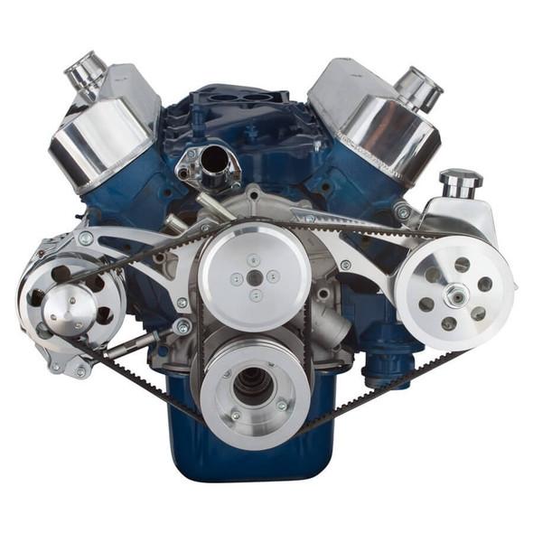 Ford 289-302-351W V-Belt System - Alternator & Power Steering, Shorty Water Pump