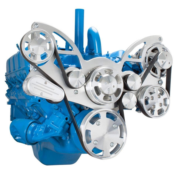 Serpentine System for AMC Jeep 304, 360 & 401 - Power Steering & Alternator - All Inclusive