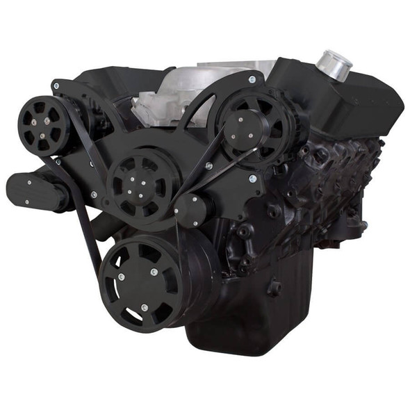 Black Serpentine System for 396, 427 & 454 - AC & Alternator