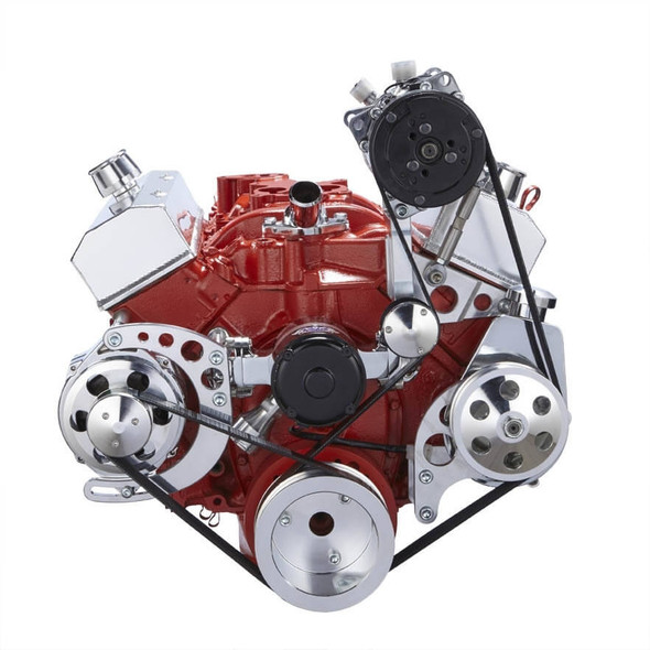 Chevy Small Block Serpentine Conversion - AC, Alternator & Power Steering, Electric Water Pump
