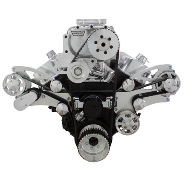 Serpentine System for 396, 427 & 454 Supercharger - Power Steering & Alternator with Electric Water Pump - All Inclusive