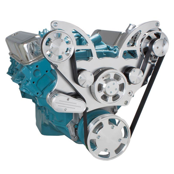 Pontiac Serpentine System for 350-400, 428 & 455 V8 - Alternator Only