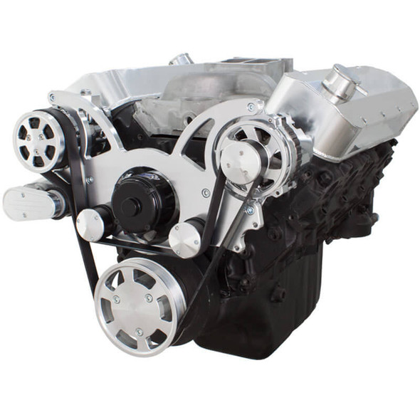 Serpentine System for 396, 427 & 454 - AC & Alternator with Electric Water Pump