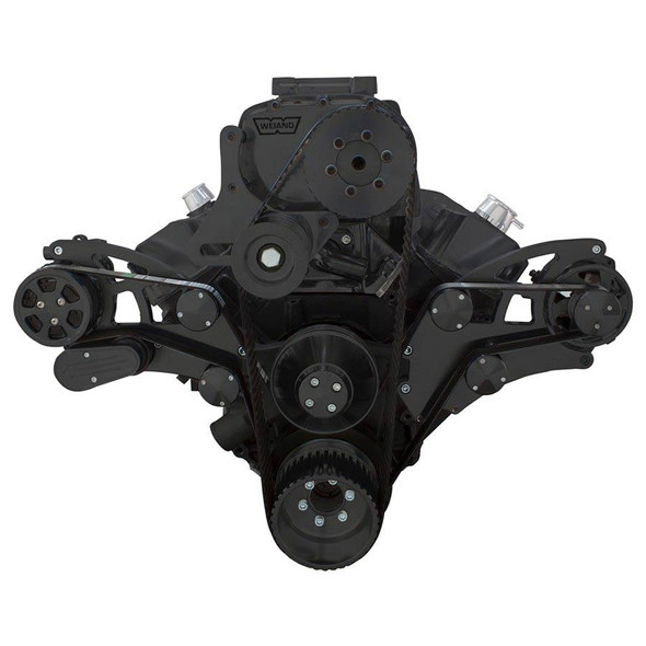 Black Serpentine System for 396, 427 & 454 Supercharger - AC & Alternator
