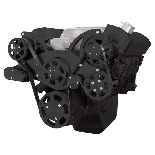 Black Serpentine System for 396, 427 & 454 - Power Steering & Alternator