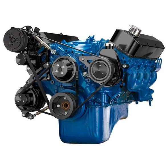 Black Ford 460 Serpentine System - AC, Alternator & Power Steering