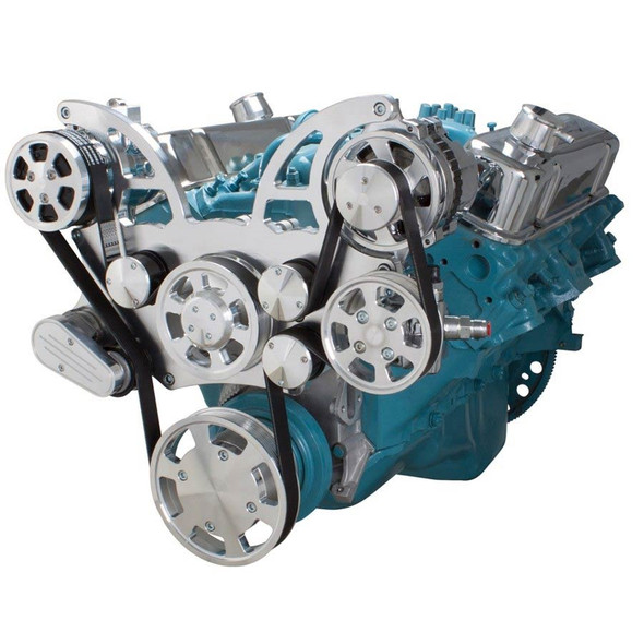 Pontiac Serpentine System for 350-400, 428 & 455 V8 - AC, Power Steering & Alternator