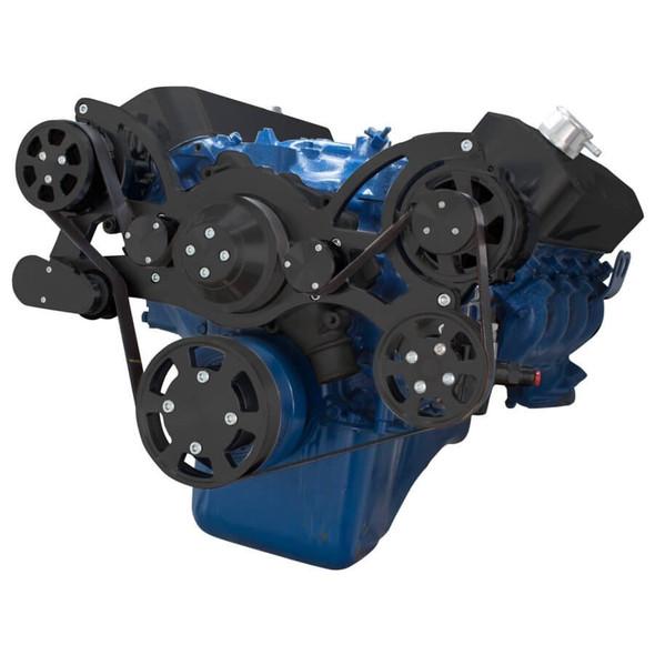 Black Serpentine System for 429 & 460 - AC, Power Steering & Alternator