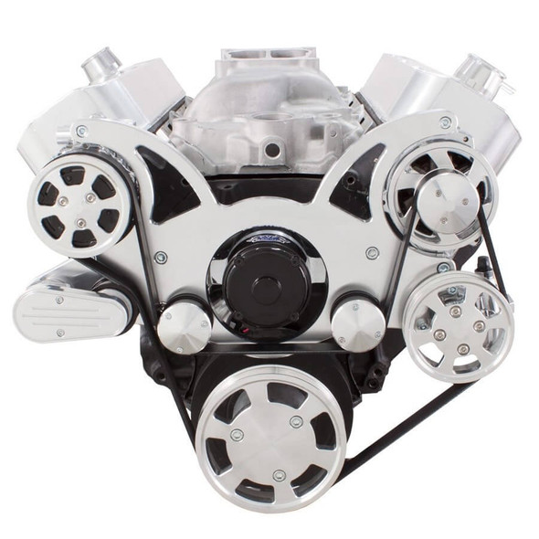 Serpentine System for Big Block Chevy - AC, Power Steering & Alternator with Electric Water Pump