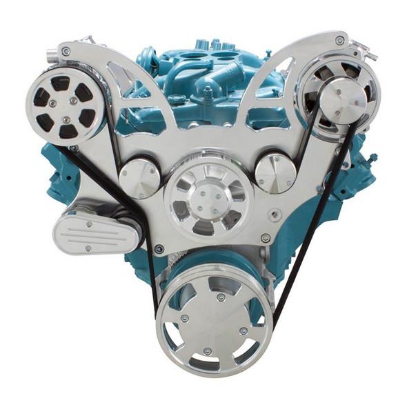 Pontiac Serpentine System for 350-400, 428 & 455 V8 - AC & Alternator