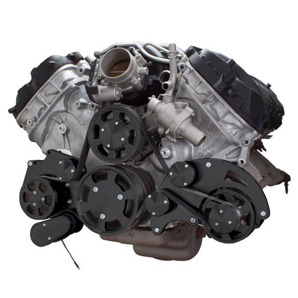 Stealth Black Serpentine System for Ford Coyote 5.0 - AC & Alternator