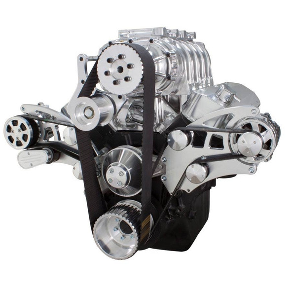 Serpentine System for 396, 427 & 454 Supercharger - AC, Alternator & Root Style Blower